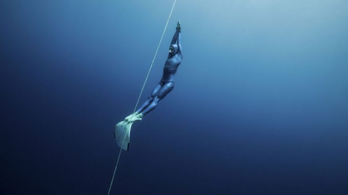 Guillaume Nery freediving